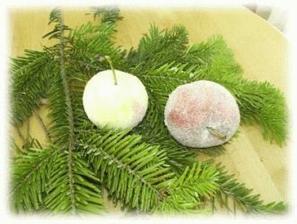 Zasnežené jabĺčka