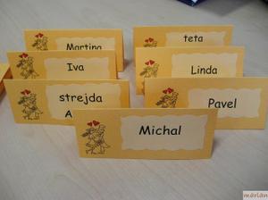 začínám tvořit jmenovky...