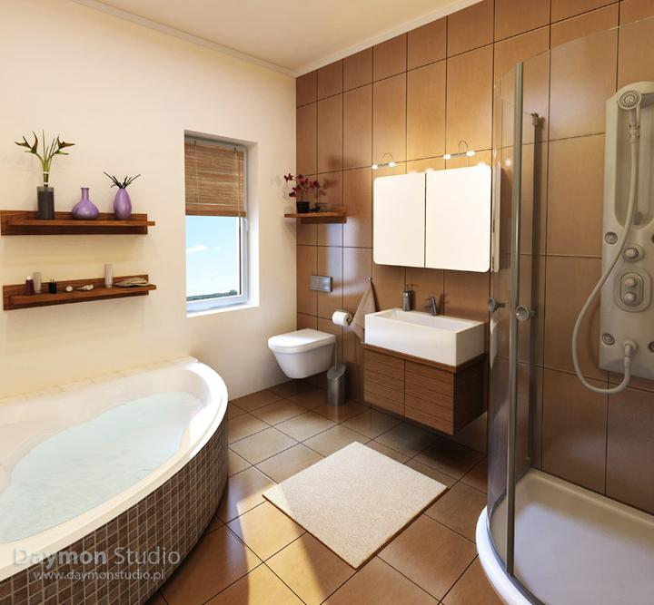 Príprava na bývanie ;-) - takáto bude horná kúpeľňa...smotana-cokolada-oriesky :) tak som si to nazvala :-D