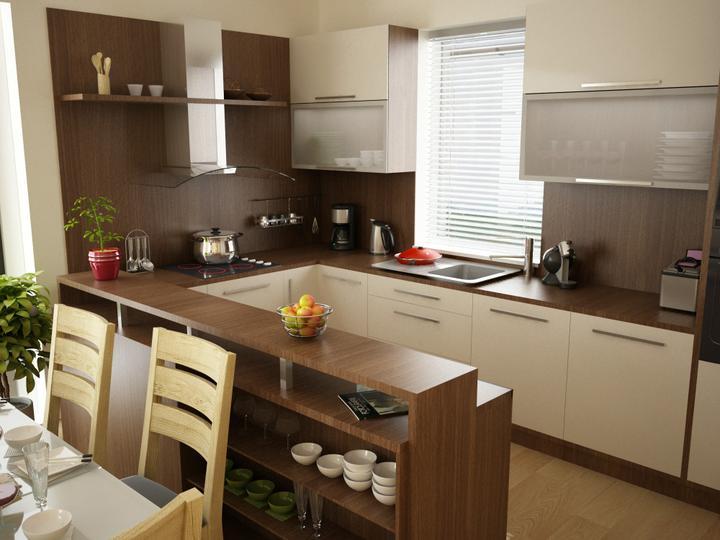 Príprava na bývanie ;-) - presne takto budeme mať dispozicne riesenu kuchyňu...len barovy pult chcem nižší a širší...aj tá linka je krásna ;-) žeby ?