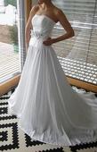 svatební šaty s páskem top stav, 36