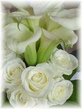 Detail svatební kytičky