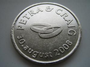 a tu su uz nase svadobne mince hotove, predna strana