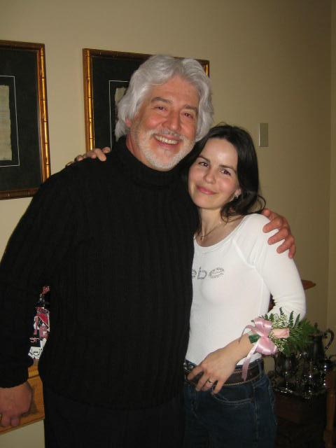 Bridal Shower and things... - Petra a jej vysmiaty boss, dr. G. (ktory mi pride z Kanady na svadbu do Bojnic)