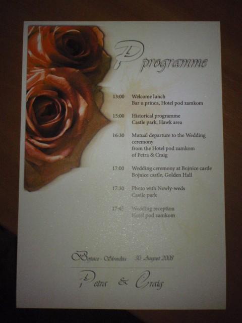 Nasa svadobna atmosfera... - svadobny program