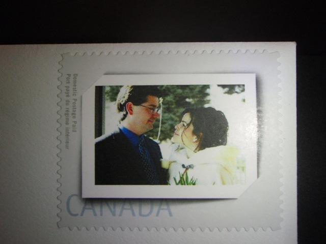 Nasa svadobna atmosfera... - nasa vlastna postova znamka na obalke s dakovnymi kartami