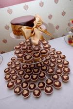 hlavná cupcakeková tortička - čokobanánová