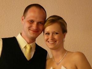 Aďka aj s bratom - svedkom- Peťom. :)