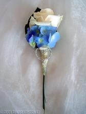 Předloha pro ženichovu korsáž - musí korespondovat s mou kyticí :-)