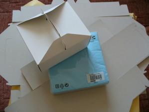 Krabičky a ubrousky na výslužky