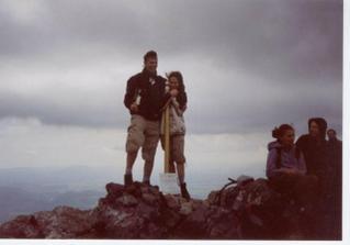 A tady už hlavní protagonisté slavnostního dne. Já a můj Roman na vrcholu Velkého Kriváně 2004