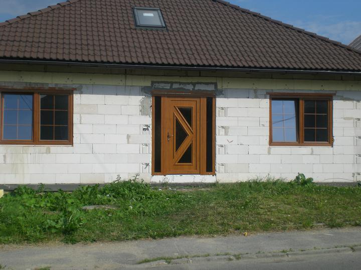 Chalupa - Vchodove dvere zlaty dub