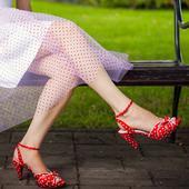 Saténové sandálky s koženou stielkou, 36