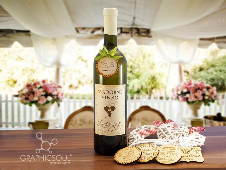 Graphicsoul s.r.o. - Etikety na svadobné víno
