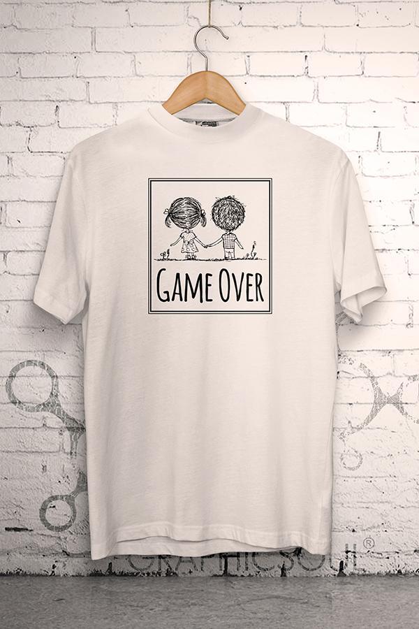 Svadobné tričká - Svadobné tričko Game Over