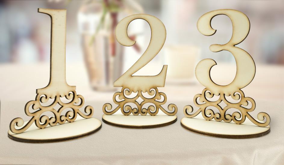 Čísla na svadobné stoly - Obrázok č. 1