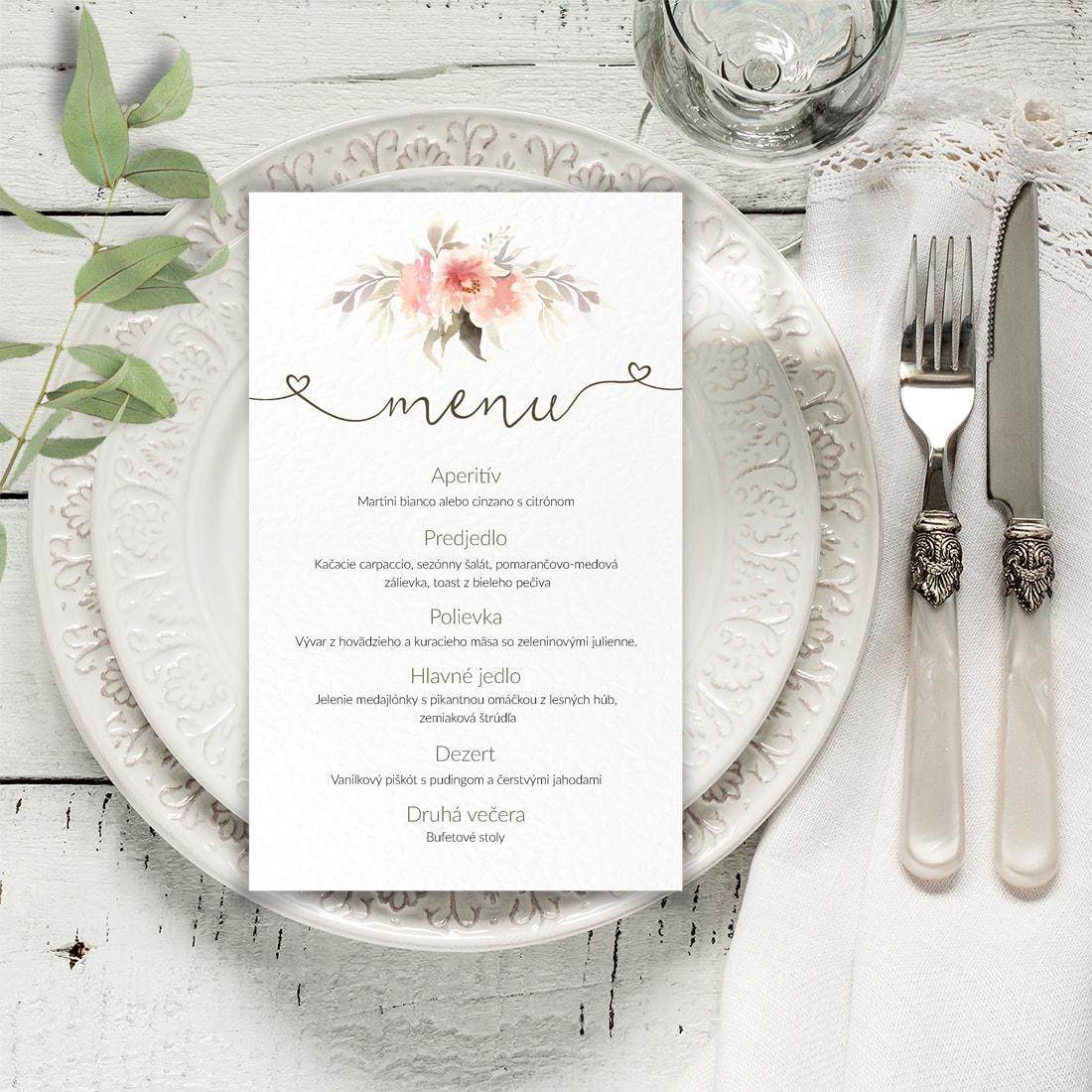 Svadobné menu - menu karta - Obrázok č. 1