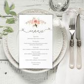Svadobné menu - menu karta,