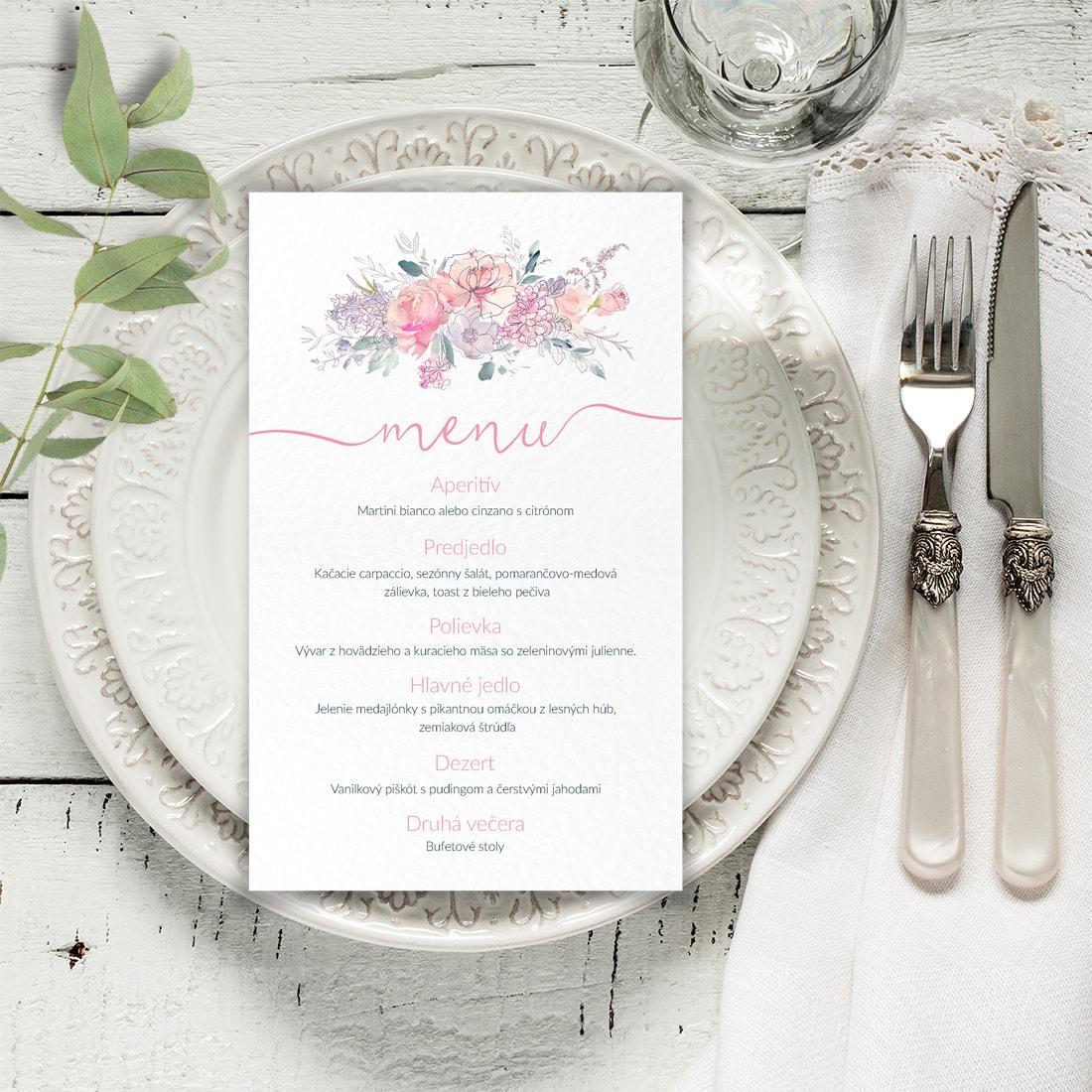 Svadobné menu - menu karta - Obrázok č. 2