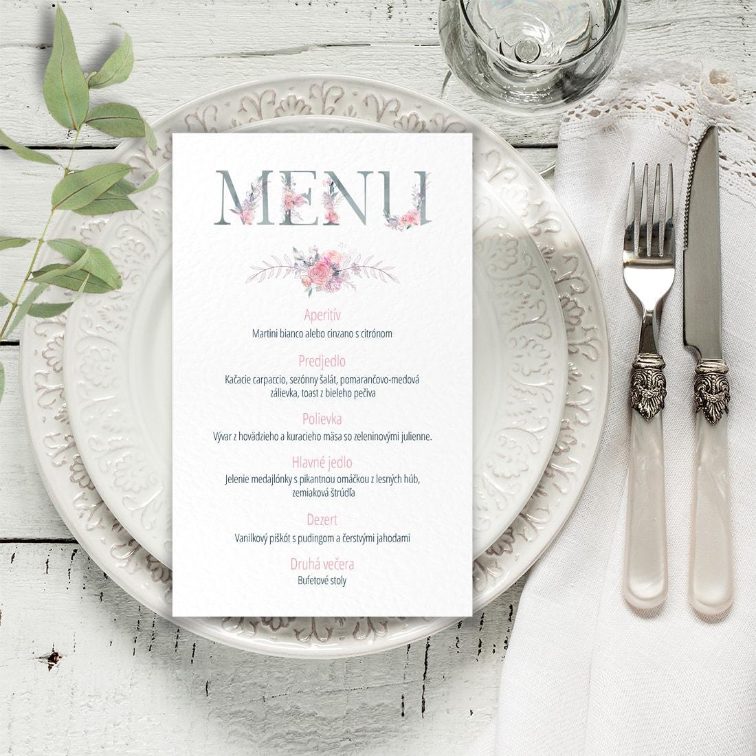 Svadobné menu - menu karta - Obrázok č. 3