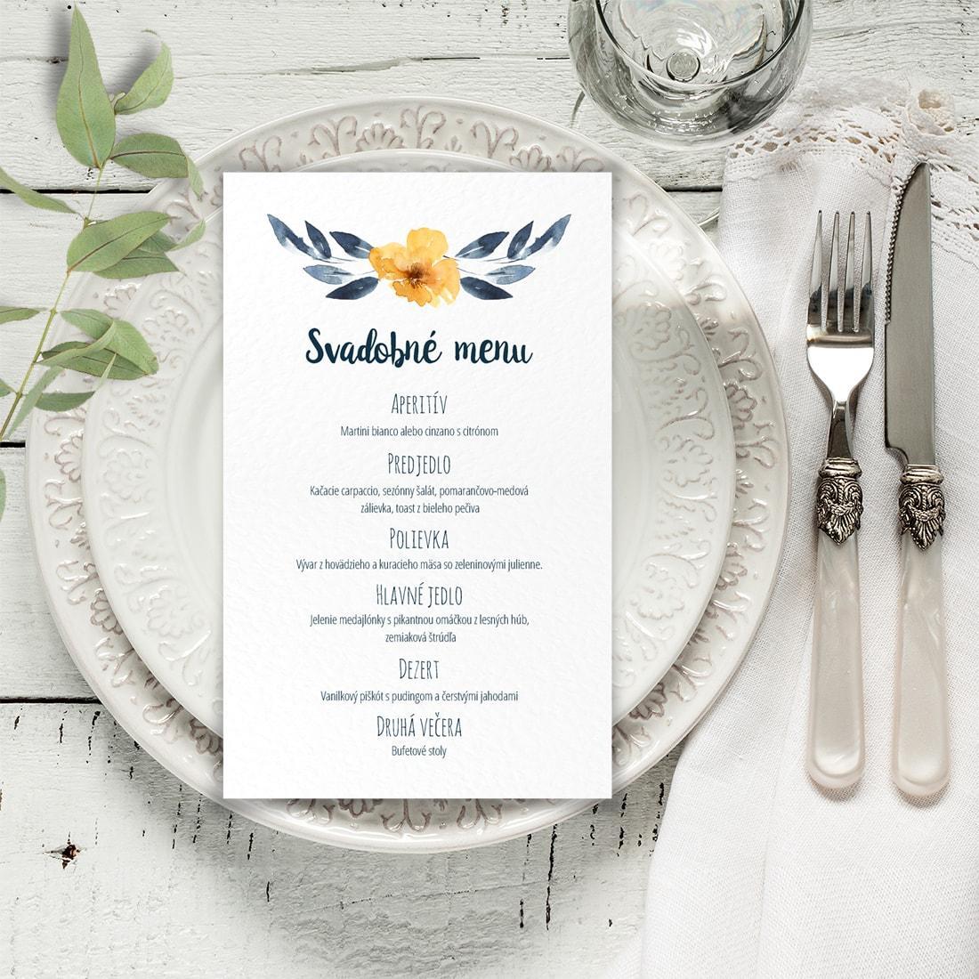 Svadobné menu - menu karta - Obrázok č. 4