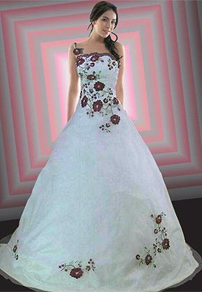 Svatební šaty - růžové i červené až do bordó - Obrázek č. 24