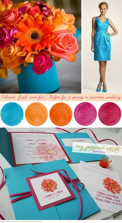 Wedding colour ideas... - Orange&Turquoise