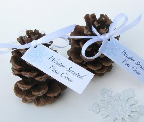 Winter Wedding ideas - Winter wedding pine cones