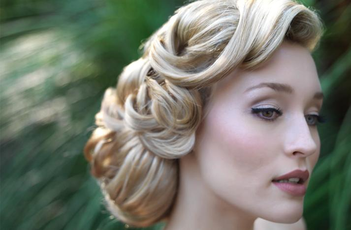 Wedding hair and make up ideas - a classic look, timeless elegance