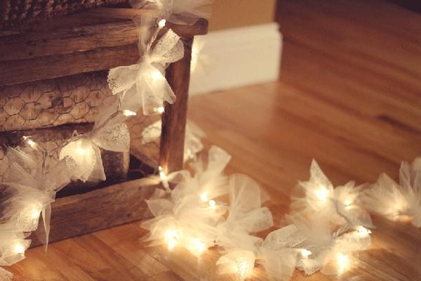 Wedding DIY ideas - Love these! Wedding fairy lights with a twist