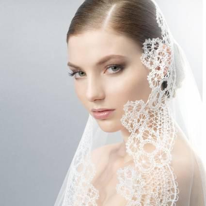 Winter Wedding ideas - Wedding veil, lace trimmed