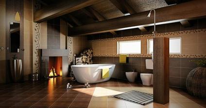 ideálna kúpelňa... len by to ešte chcelo toho sluhu, čo by prikladal a udržiaval v čistote... hahaa :D