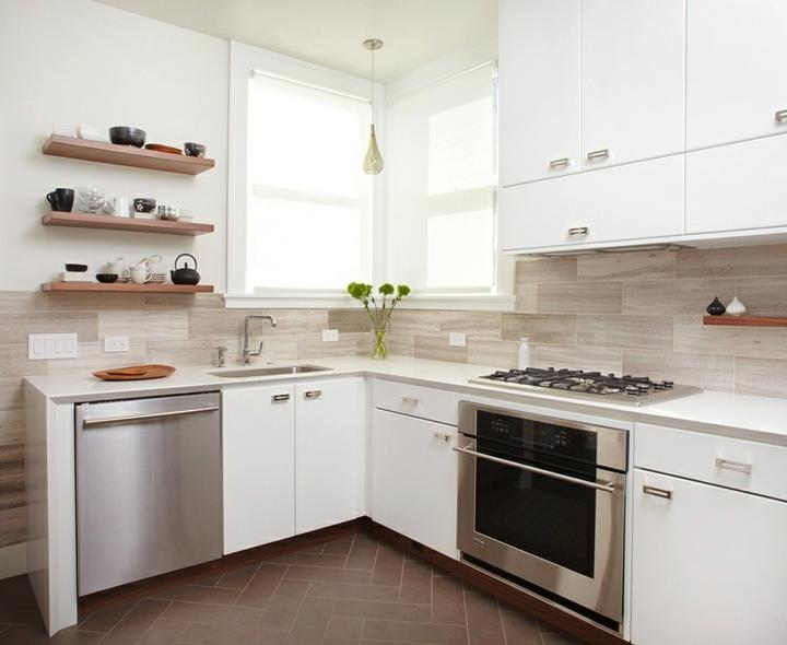 Kuchyně, které mě inspirují..a moje věčné dilema.. - hm..ty poličky..a obklad..