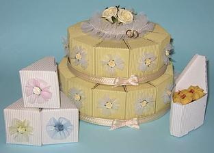 výslužkový dort, hezký nápad...