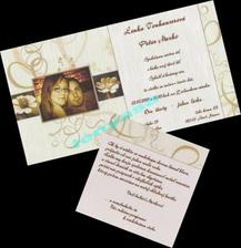 naše svadobné oznámenie (čisto iba moja iniciativa, sama som si vyrobila od samých základov)