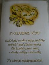 etiketa na vínečko