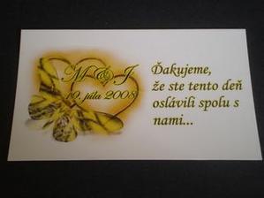 naše ďakovne kartičky