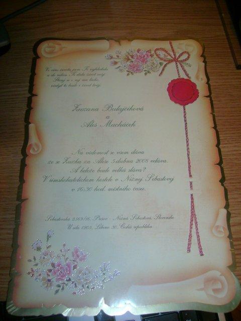 Zuzlica a Dj Aleš - Naše svadobné oznámenia
