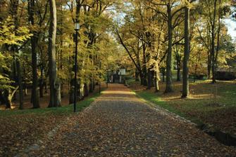 hradní park...ten nádherný podzim dělal svoje :) a kupodivu jsme tam dnes nepotkali jediné novomanžele...