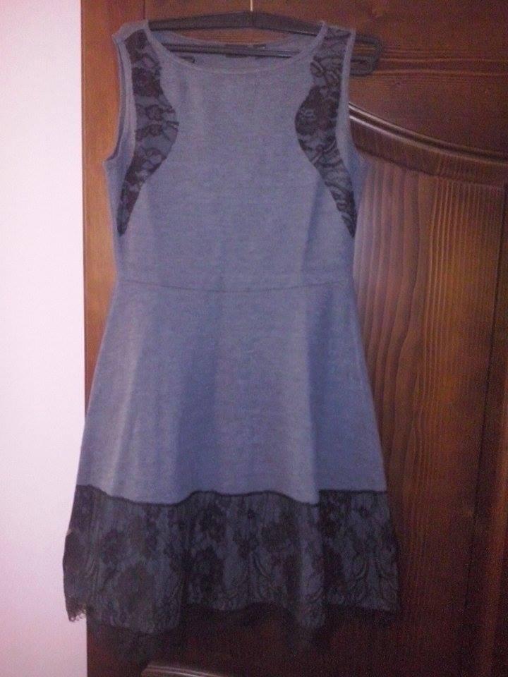 Šedo-čierne šaty - Obrázok č. 3