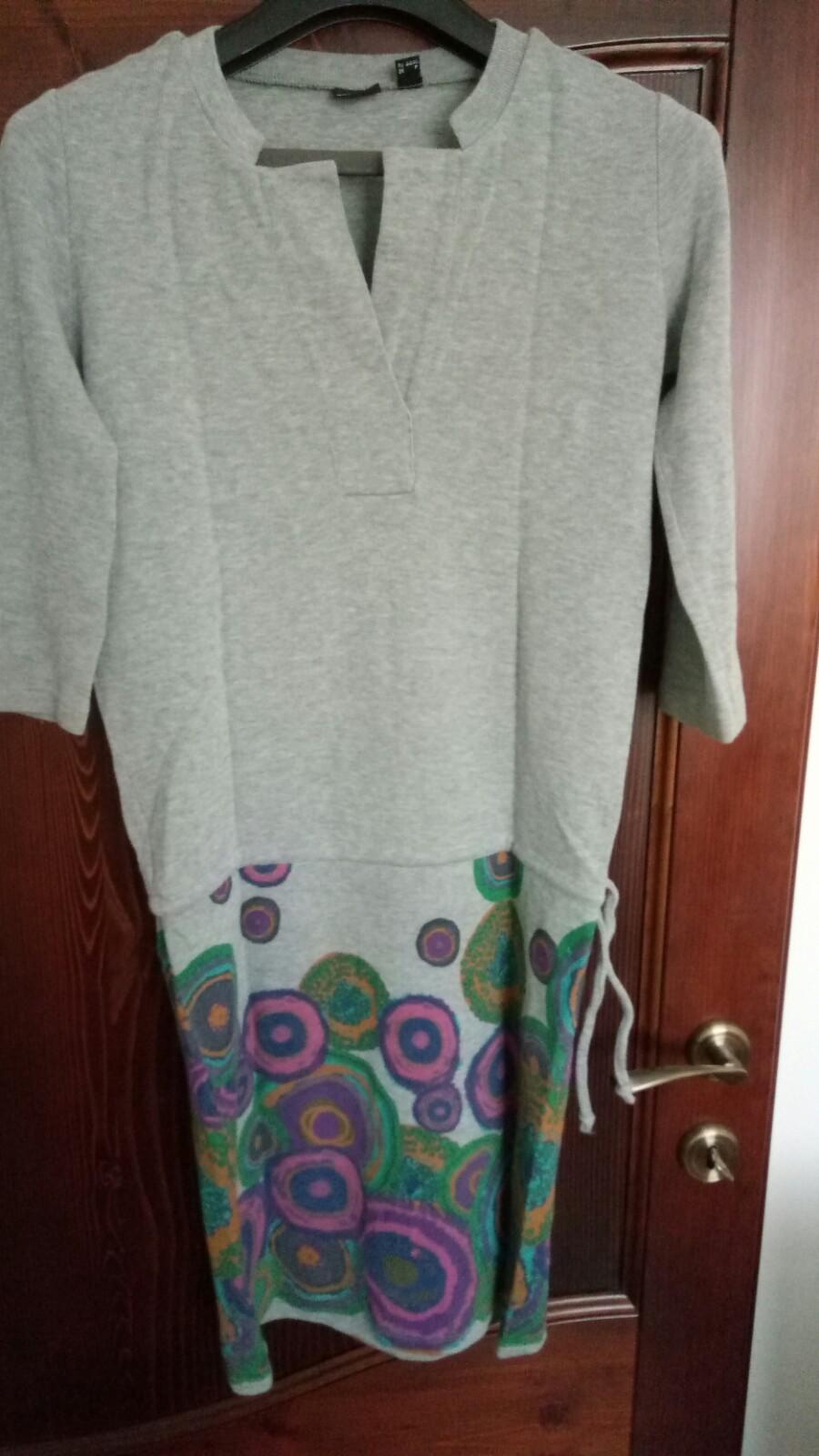 Bavlnené sivé šaty - Obrázok č. 1