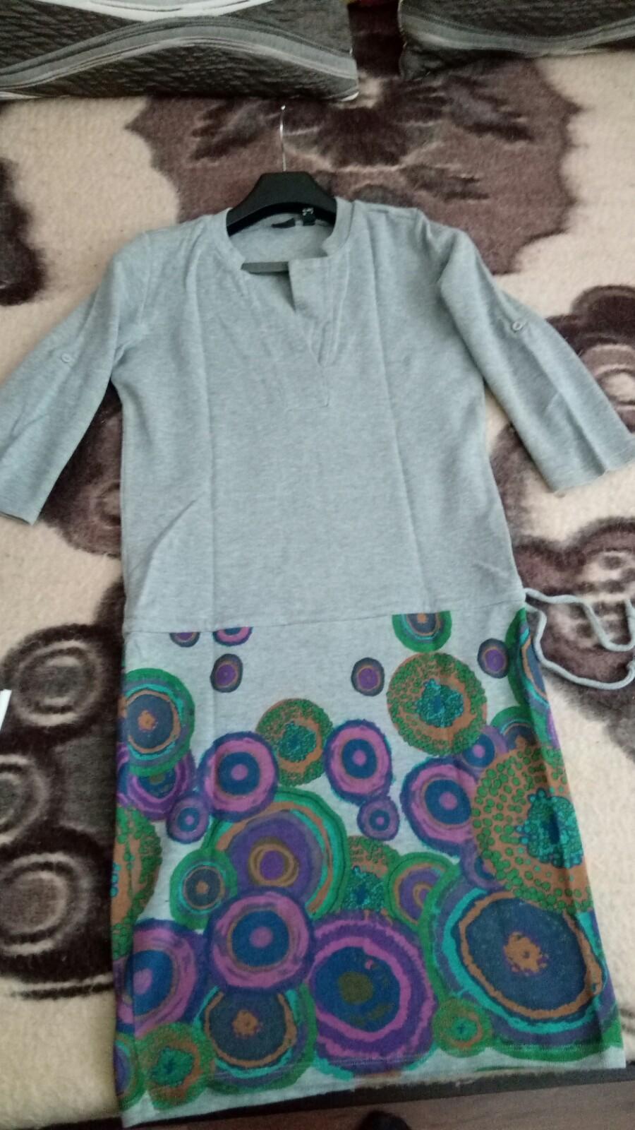 Bavlnené sivé šaty - Obrázok č. 2