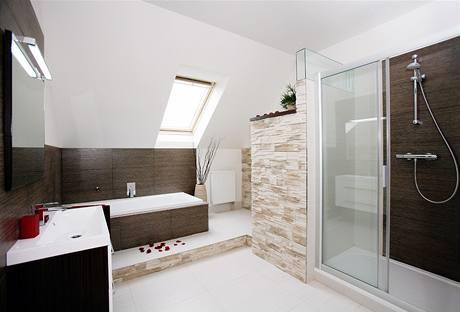 Skřín, šatna, chodba - sice je to foto koupelny,.. ale ze by byl v chodbe hezky obkladovy stipany kamen?