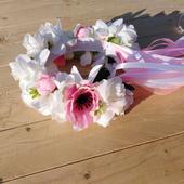 Svadobná parta ružový mak,