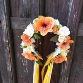 Svadobná parta žiarivý pomaranč ,