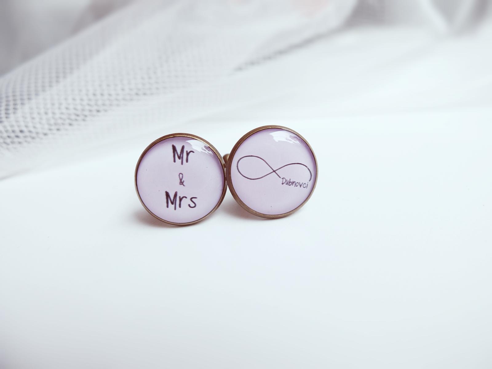 Manžetové knoflíčky - ∞ Mr and Mrs Dubnovci <3