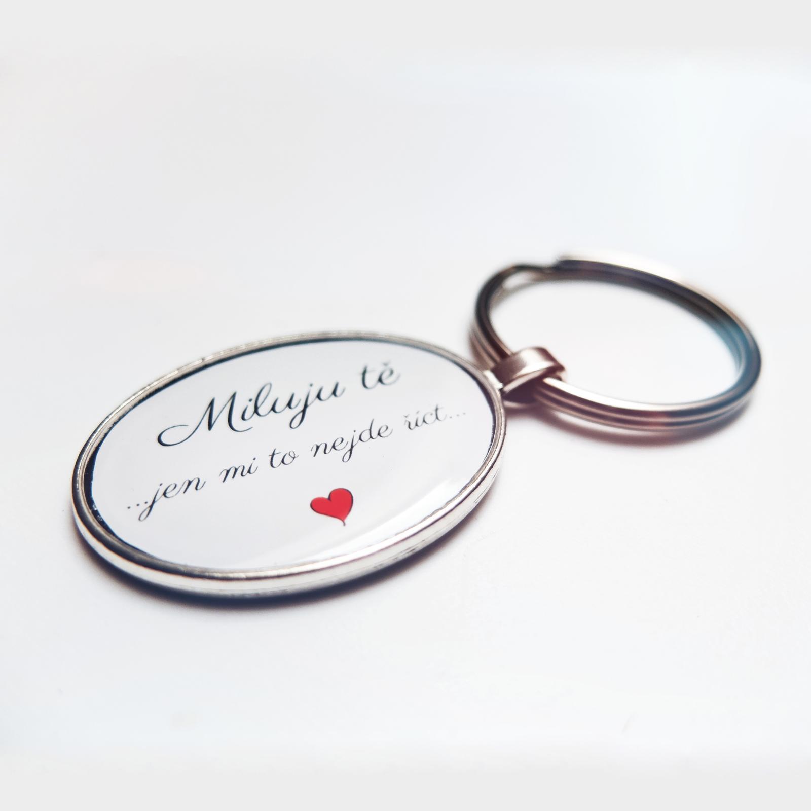 Doplňky pro nevěstu - přívěsek s vyznáním lásky