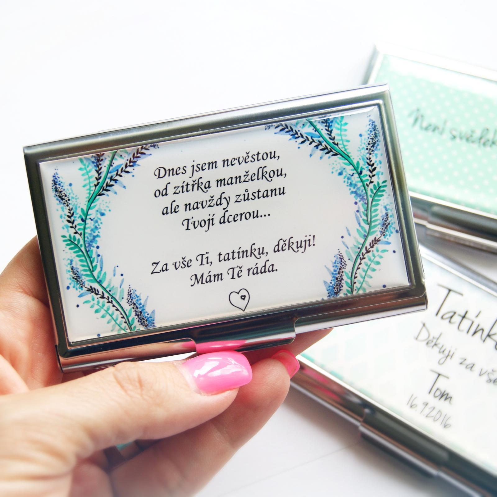 Svatby v druhé polovině roku 2016 - krabička na vizitky pro tatínka