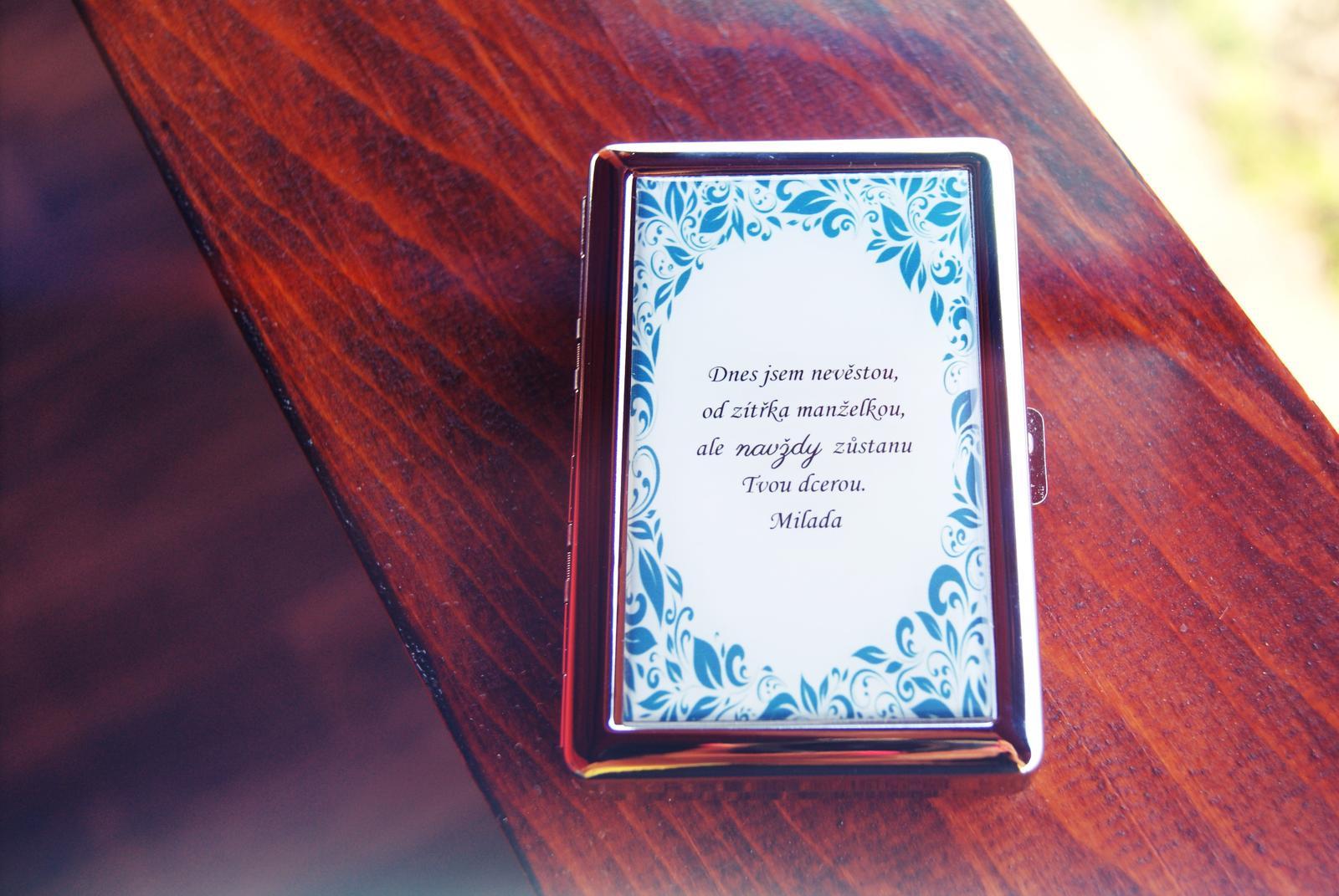 Svatby v druhé polovině roku 2016 - tabatěrka pro tatínka na 16ks cigaret