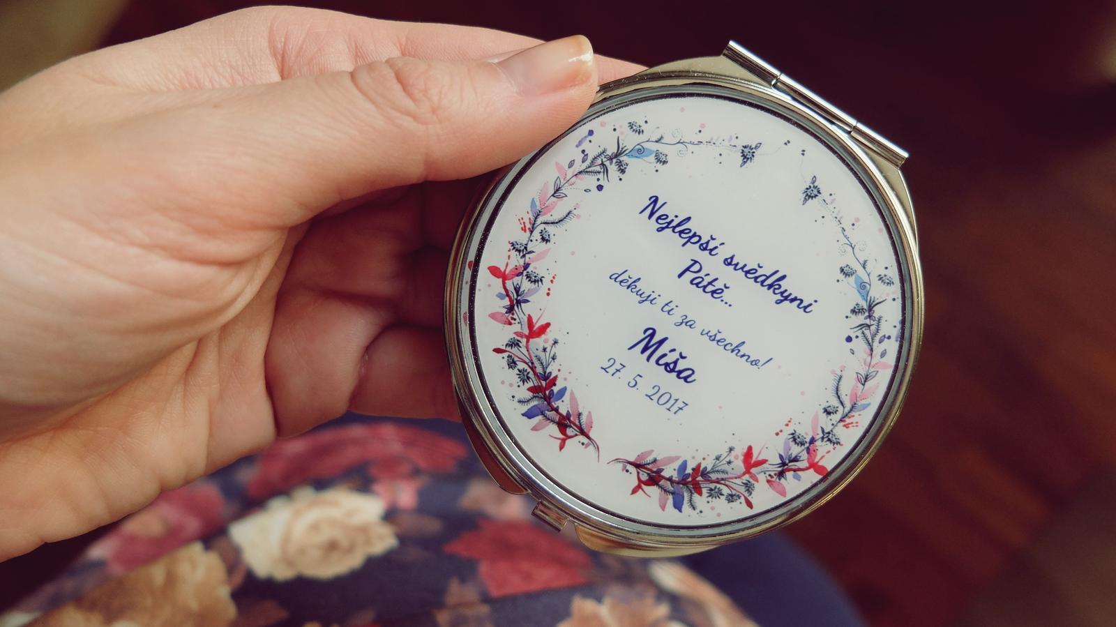 Svatby roku 2017 - Zrcátko pro svědkyni Páťu Pro návrh vlastního šperku na přání využijte náš formulář na eshopu: http://bit.ly/_sperky_na_prani